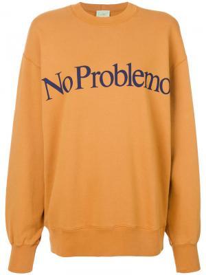 Толстовка No Problemo Aries. Цвет: жёлтый и оранжевый