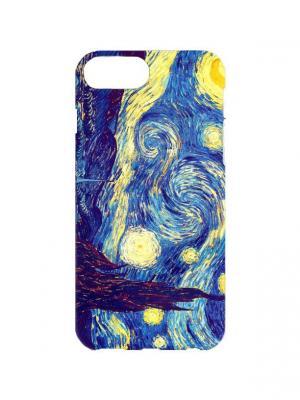 Чехол для iPhone 7Plus Ван Гог - Звездная ночь Арт. 7Plus-188 Chocopony. Цвет: темно-синий, желтый, синий