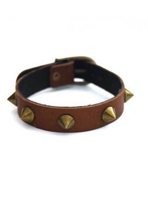 Кожаный браслет TRONIN. Цвет: светло-коричневый