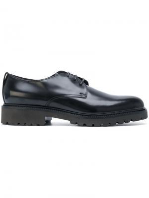 Туфли Дерби на рифленой подошве Doucals Doucal's. Цвет: чёрный
