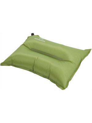 Самонадувающаяся подушка с чехлом в комплекте OUTVENTURE. Цвет: зеленый