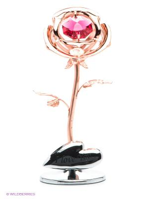 Статуэтка Роза CRYSTOCRAFT. Цвет: золотистый