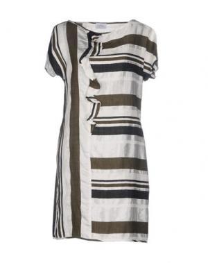 Короткое платье LA FABBRICA del LINO. Цвет: зеленый-милитари