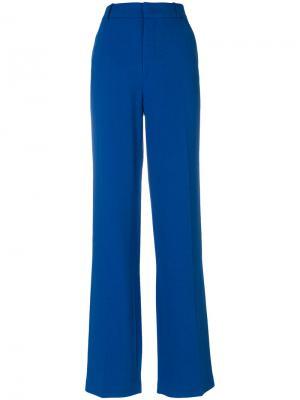 Расклешенные брюки Joseph. Цвет: синий