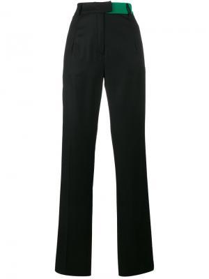 Прямые брюки с завышенной талией Ronald Van Der Kemp. Цвет: чёрный