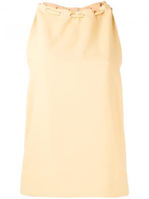 Блузка без рукавов Nomia. Цвет: жёлтый и оранжевый