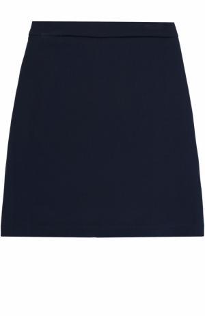 Юбка-карандаш с разрезом Caf. Цвет: темно-синий
