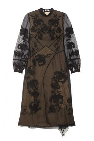 Платье с вышивкой Brianna Erdem. Цвет: черный