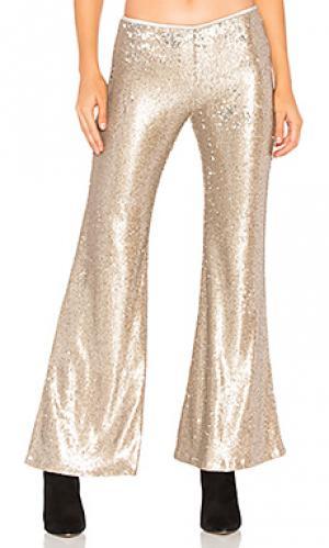 Расклешенные брюки the minx Free People. Цвет: металлический золотой