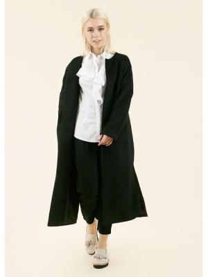Пальто Minimal (ночь) MONOROOM. Цвет: черный