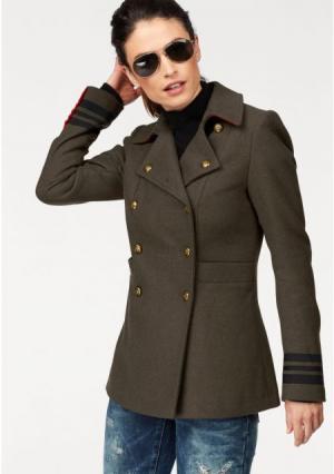 Удлиненная куртка Laura Scott. Цвет: хаки