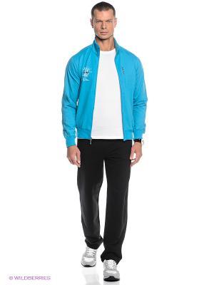 Спортивный костюм Ocean66. Цвет: черный, голубой