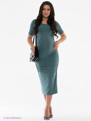 Платье Isabella Oliver. Цвет: серо-зеленый