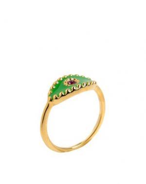 Кольцо EYLAND. Цвет: зеленый