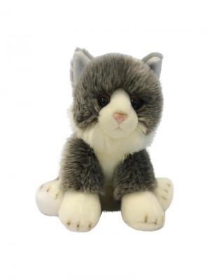 Мягкая Игрушка Котик Сидячий MAXITOYS. Цвет: серый, белый