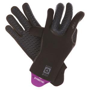 Перчатки (гидро)  Jackson Semi Dry Glove Black Mystic. Цвет: черный,фиолетовый