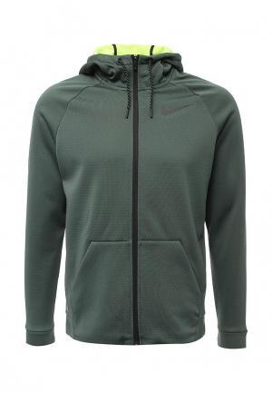 Толстовка Nike. Цвет: зеленый