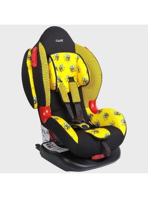 Детское автомобильное кресло КОКОН Isofix коллекция ART SIGER. Цвет: желтый