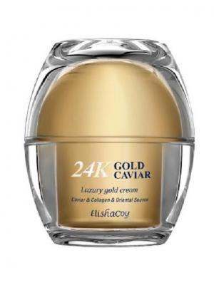 Крем с экстрактом икры и частицами 24к золота Elisha Coy. Цвет: белый