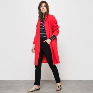 Пальто каплеобразной формы La Redoute Collections. Цвет: красный,ярко-синий
