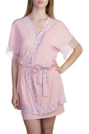 Халат Rose&Petal Homewear. Цвет: розовый