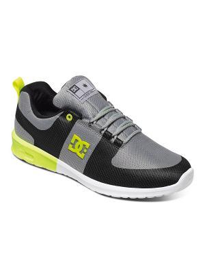 Кроссовки DC Shoes. Цвет: серый, зеленый