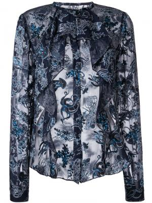 Рубашка Devore Degas Bianca Spender. Цвет: синий