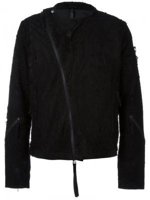Frayed biker jacket Barbara I Gongini. Цвет: чёрный