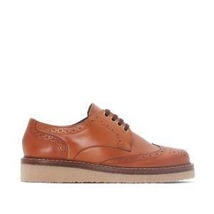 Ботинки-дерби кожаные JONAK. Цвет: коньячный