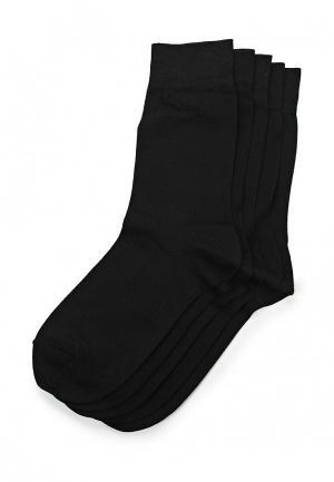 Комплект носков 5 пар John Jeniford. Цвет: черный