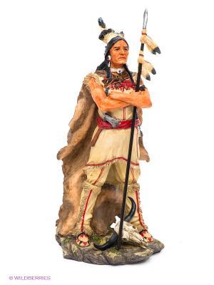 Статуэтка Индеец Veronese. Цвет: молочный, красный, коричневый