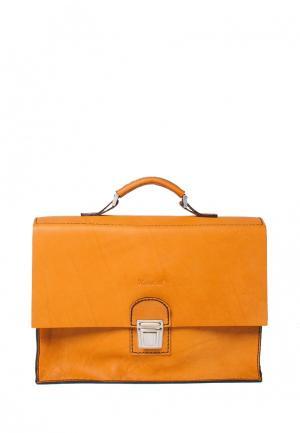 Портфель Handsel. Цвет: оранжевый