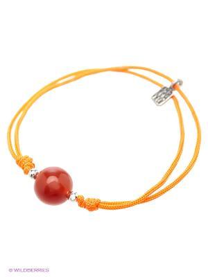 Браслет Amorem. Цвет: серебристый, оранжевый