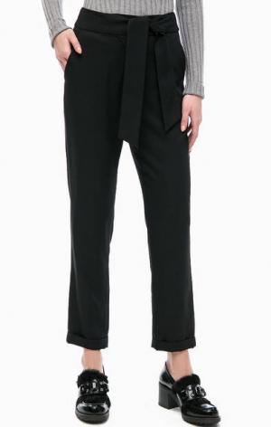 Черный укороченные брюки с отворотами Silvian Heach. Цвет: черный