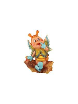 Фигура  Бабочка-красотка Коралл. Цвет: коричневый, желтый, синий, зеленый