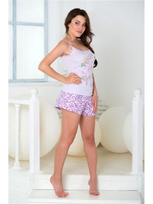 Пижама Santi. Цвет: белый, сиреневый