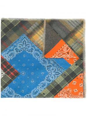 Лоскутный шарф с вышивкой Pierre-Louis Mascia. Цвет: многоцветный