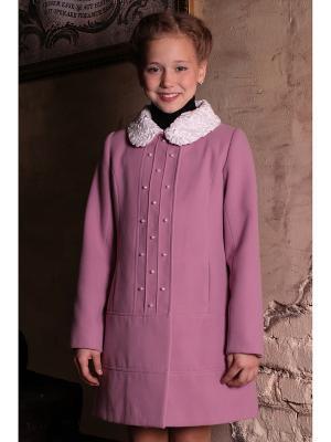 Пальто+съем.вор DESTY. Цвет: розовый