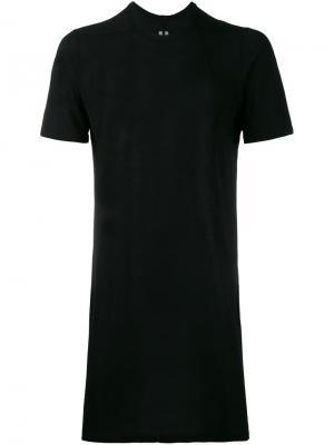 Удлиненная футболка Rick Owens. Цвет: чёрный