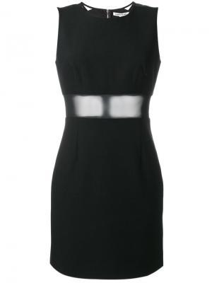 Платье с прозрачной панелью Elizabeth And James. Цвет: чёрный