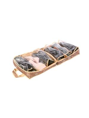 Чемоданчик для хранения обуви на 6 пар 35х40х20см Русский Шик 1213 COFRET. Цвет: бежевый, коричневый