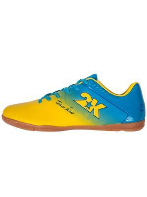 Бутсы футзальные Santos 2K. Цвет: желтый, голубой