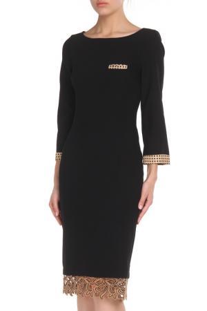 Прилегающее платье с отделкой кружевом Cristina Effe. Цвет: 2-6a 5, nero