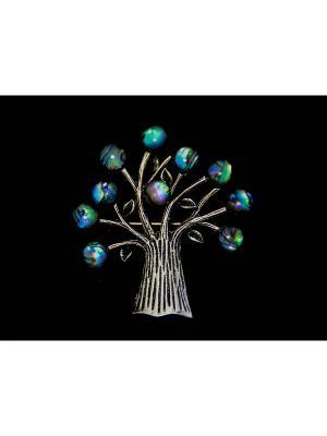 Брошь-кулон Miss Bijou. Цвет: серебристый, зеленый, синий