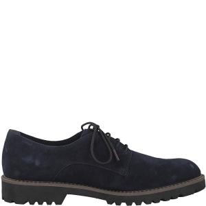 Ботинки-дерби кожаные Lynn TAMARIS. Цвет: синий морской