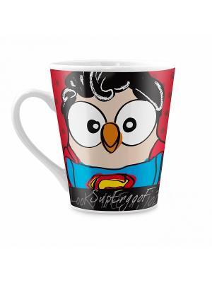 Кружка с совой Супермен Goofi. Цвет: красный