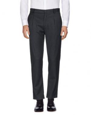 Повседневные брюки STILOSOPHY INDUSTRY. Цвет: стальной серый