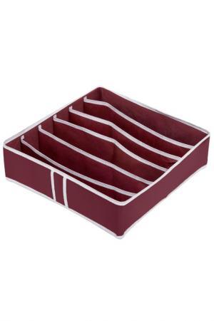 Органайзер 6 ячеек HOMSU. Цвет: бордовый