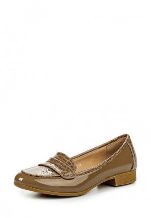 Лоферы Max Shoes. Цвет: бежевый