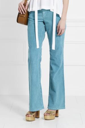 Расклешенные джинсы Juicy Couture. Цвет: бирюзовый